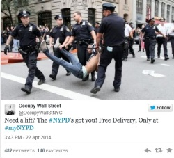 Join the backlash and post your own comment with a photo of NYPD's police brutality!